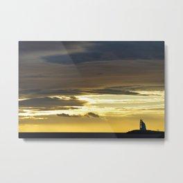Sea sunset landscape Metal Print