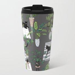 cats in the interior dark pattern Travel Mug