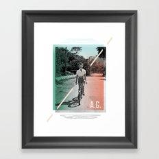 A.G. Collage Framed Art Print