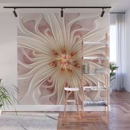 A floral Beauty, abstract Fractal Art Wall Mural