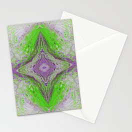 Psycho - Green Slime and Purple Fancy in a Reptile Universe by annmariescreations Stationery Cards