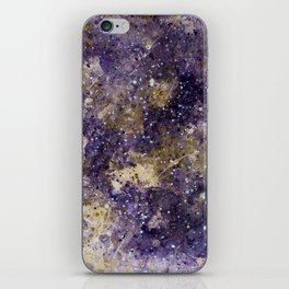 Writings in the Sky the Night Galaxy watercolor by CheyAnne Sexton iPhone Skin
