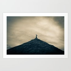 Bird on a roof, Pottuvil Point Art Print