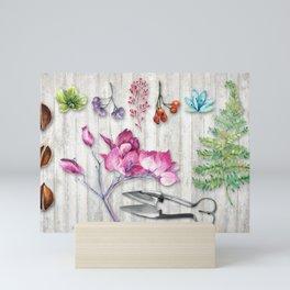 Botanica Plants and Flowers II Mini Art Print