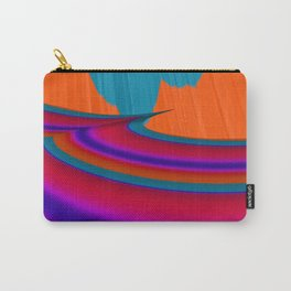 Two Mountain Peaks Abstract Art Carry-All Pouch