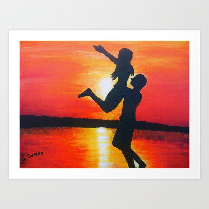 Beautiful sunset Art Print