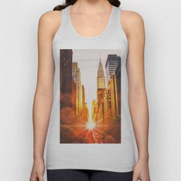 NYC Skyline Sunset Unisex Tank Top