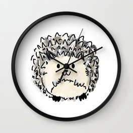 Hubert the Hedge Hog - hand drawn art Wall Clock