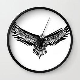 Wild eagle ecopop Wall Clock