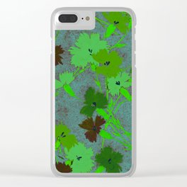 Fashion Textail Floral Print Design, Flower Bouquet Allover Pattern Clear iPhone Case