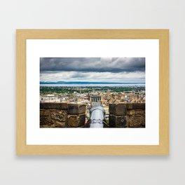 View of Edinburgh, Scotland from Edinburgh Castle Framed Art Print