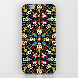 Mischievous Mexican skeletons celebrating the Day of the Dead iPhone Skin
