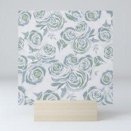 Dreamy Greens Rose Pattern Mini Art Print