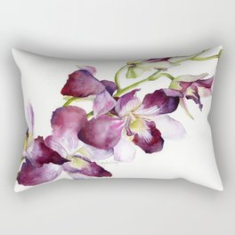 Radiant Orchids: Magenta Dendrobiums Rectangular Pillow