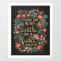 Little & Fierce on Charcoal by catcoq