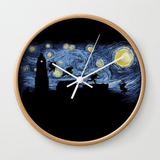 Starry Fight Wall Clock