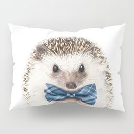 Baby Hedgehog With Bow Tie, Baby Animals Art Print By Synplus Pillow Sham