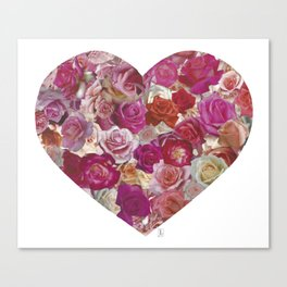 The Rose Heart Canvas Print