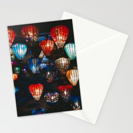 Lanterns in the Night Market, Hoi An, Vietnam Stationery Cards