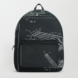 Guitar Patent - chalkboard Backpack