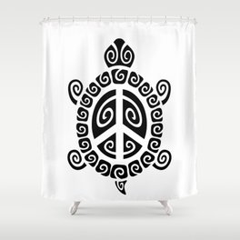 Peace Tortoise Shower Curtain
