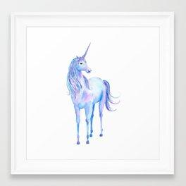 Watercolor Unicorn 3 Framed Art Print