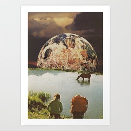Secret lagoon  Art Print