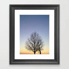 Silhouette  Framed Art Print