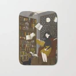 floating books Bath Mat