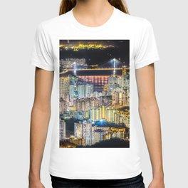Hong Kong City View At Night T-shirt