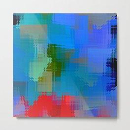 Square glass  11 Metal Print