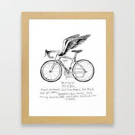 Live, Breathe, Bike Framed Art Print