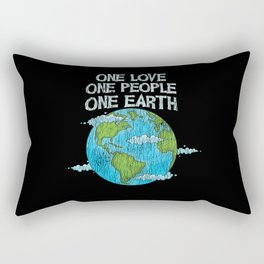 One Love One People Planet Climat Change Earth Day Rectangular Pillow