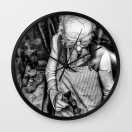 The Cobbler (Black & White) Wall Clock