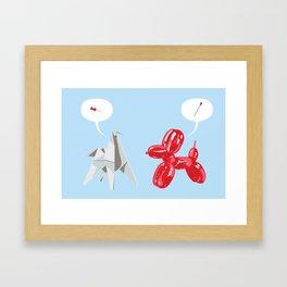 Dog Fight Framed Art Print