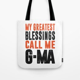 Blessings Call Me G-Ma Tote Bag