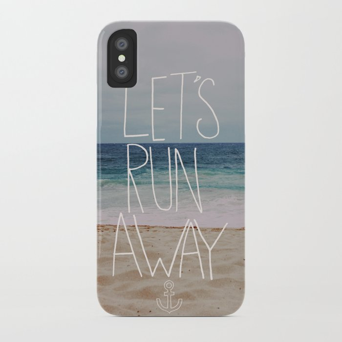 Let's Run Away: Sandy Beach, Hawaii iPhone Case