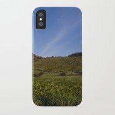 Green Fields Mountains and Blue Sky iPhone X Slim Case
