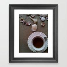 Tea Shells Framed Art Print