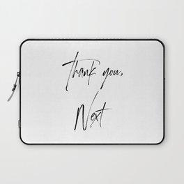 Ariana G. Quote, Thank U, Next, Lyrics, Home Decor, Wall Art, Wall Decor Laptop Sleeve
