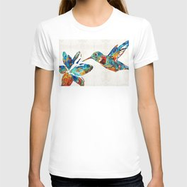 Colorful Hummingbird Art by Sharon Cummings T-shirt