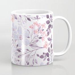 Hand painted modern pink lavender watercolor floral Coffee Mug