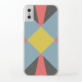 Blue gray Clear iPhone Case