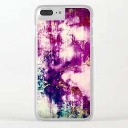 golden crackle Clear iPhone Case