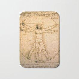 Vitruvian Man by Leonardo da Vinci Bath Mat