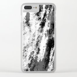 Perseverance Black & White Clear iPhone Case