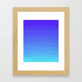 Cobalt Light Blue gradient Framed Art Print