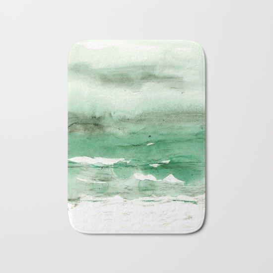green & grey Bath Mat