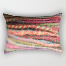Handspun Yarn Color Pattern by robayre Rectangular Pillow