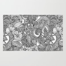 Flowers and doodles Rug